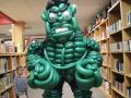 balloon hulk showing off his muscles